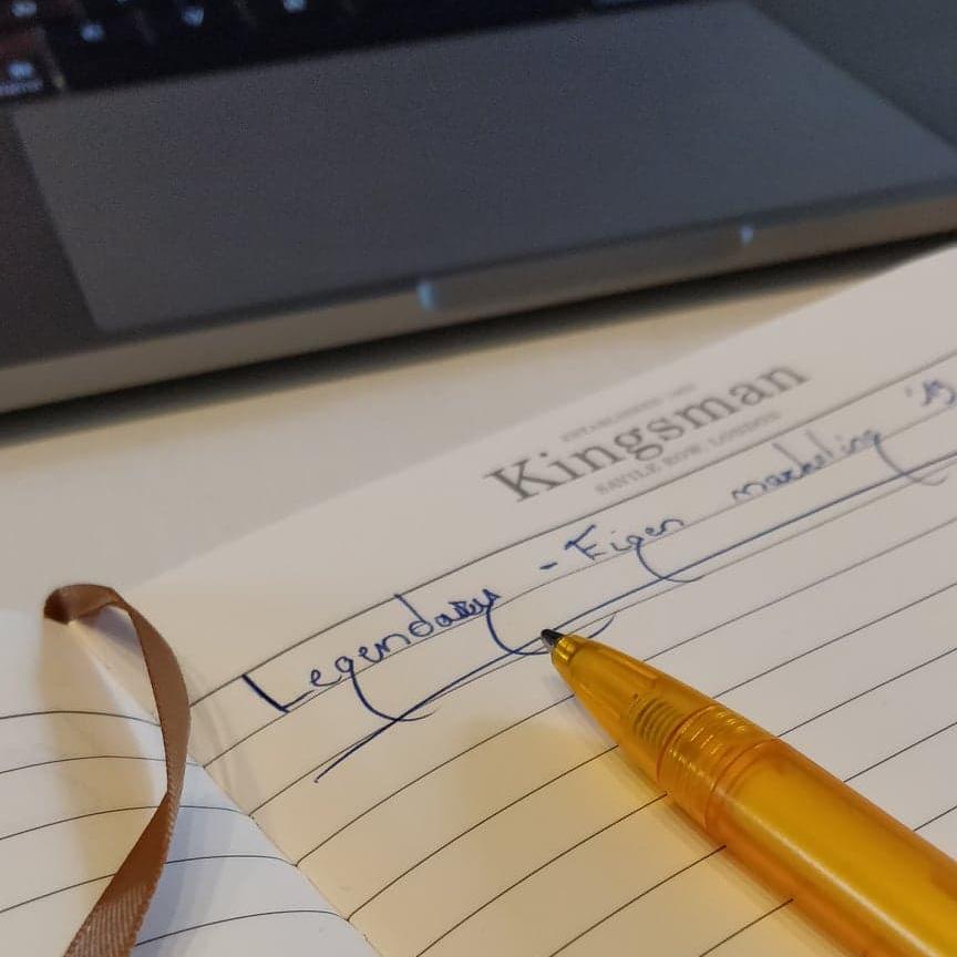 freelance-ideeën in mijn Kingsman-boekje