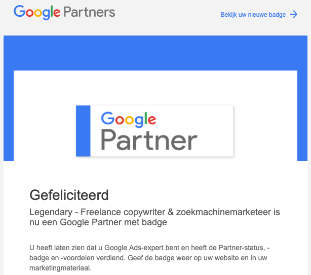Mail Google Partners